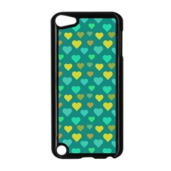 Hearts Seamless Pattern Background Apple Ipod Touch 5 Case (black)
