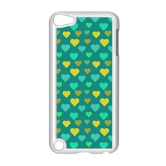 Hearts Seamless Pattern Background Apple Ipod Touch 5 Case (white)