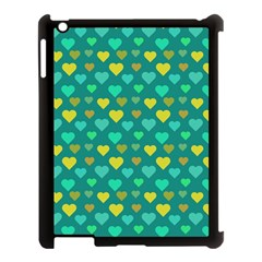 Hearts Seamless Pattern Background Apple iPad 3/4 Case (Black)