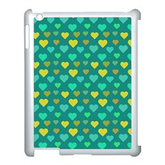 Hearts Seamless Pattern Background Apple Ipad 3/4 Case (white)