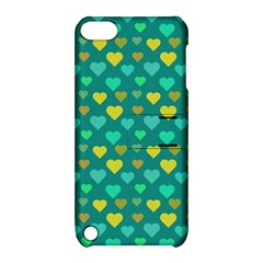Hearts Seamless Pattern Background Apple iPod Touch 5 Hardshell Case with Stand