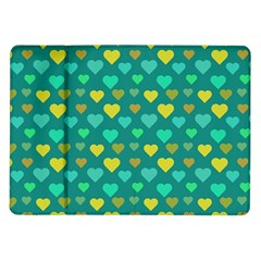Hearts Seamless Pattern Background Samsung Galaxy Tab 10 1  P7500 Flip Case