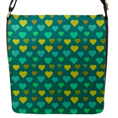 Hearts Seamless Pattern Background Flap Messenger Bag (S)