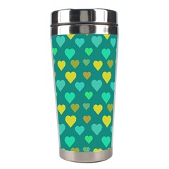 Hearts Seamless Pattern Background Stainless Steel Travel Tumblers