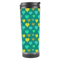 Hearts Seamless Pattern Background Travel Tumbler