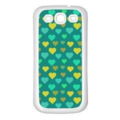 Hearts Seamless Pattern Background Samsung Galaxy S3 Back Case (White)