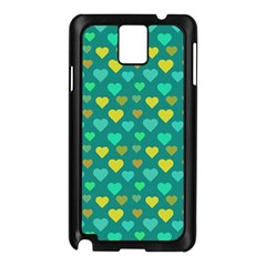 Hearts Seamless Pattern Background Samsung Galaxy Note 3 N9005 Case (black)