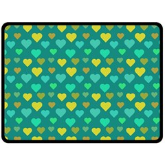 Hearts Seamless Pattern Background Double Sided Fleece Blanket (Large)