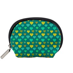 Hearts Seamless Pattern Background Accessory Pouches (small)