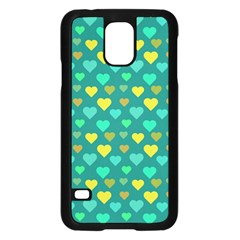 Hearts Seamless Pattern Background Samsung Galaxy S5 Case (black)