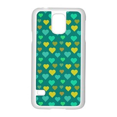 Hearts Seamless Pattern Background Samsung Galaxy S5 Case (white)