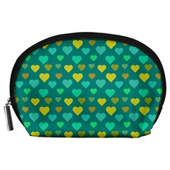 Hearts Seamless Pattern Background Accessory Pouches (large)