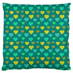 Hearts Seamless Pattern Background Large Flano Cushion Case (two Sides)