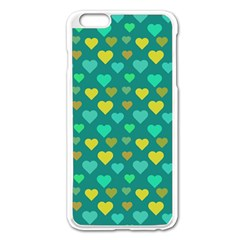 Hearts Seamless Pattern Background Apple Iphone 6 Plus/6s Plus Enamel White Case