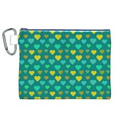 Hearts Seamless Pattern Background Canvas Cosmetic Bag (XL)