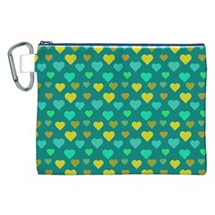 Hearts Seamless Pattern Background Canvas Cosmetic Bag (XXL)