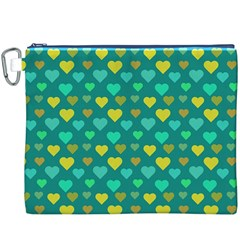 Hearts Seamless Pattern Background Canvas Cosmetic Bag (XXXL)