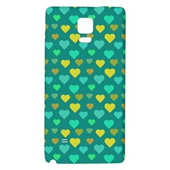 Hearts Seamless Pattern Background Galaxy Note 4 Back Case