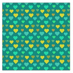 Hearts Seamless Pattern Background Large Satin Scarf (Square)
