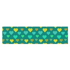 Hearts Seamless Pattern Background Satin Scarf (oblong)
