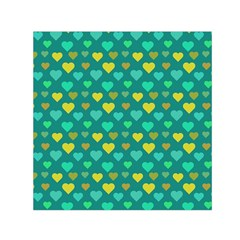 Hearts Seamless Pattern Background Small Satin Scarf (Square)