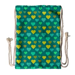 Hearts Seamless Pattern Background Drawstring Bag (large)