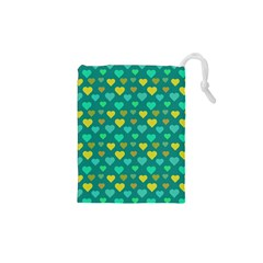Hearts Seamless Pattern Background Drawstring Pouches (xs)