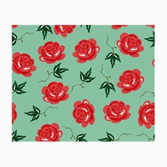 Red Floral Roses Pattern Wallpaper Background Seamless Illustration Small Glasses Cloth
