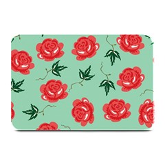 Red Floral Roses Pattern Wallpaper Background Seamless Illustration Plate Mats