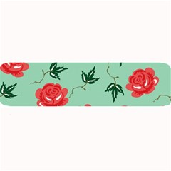 Red Floral Roses Pattern Wallpaper Background Seamless Illustration Large Bar Mats