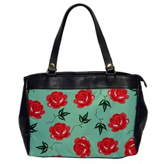 Red Floral Roses Pattern Wallpaper Background Seamless Illustration Office Handbags