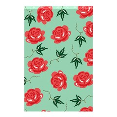 Red Floral Roses Pattern Wallpaper Background Seamless Illustration Shower Curtain 48  x 72  (Small)