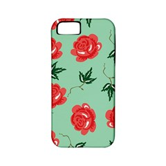Red Floral Roses Pattern Wallpaper Background Seamless Illustration Apple iPhone 5 Classic Hardshell Case (PC+Silicone)
