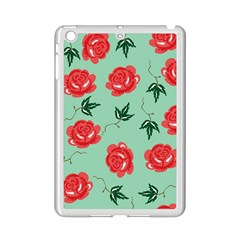 Red Floral Roses Pattern Wallpaper Background Seamless Illustration iPad Mini 2 Enamel Coated Cases