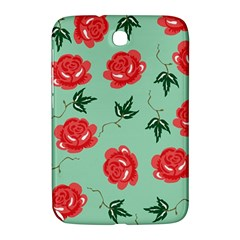 Red Floral Roses Pattern Wallpaper Background Seamless Illustration Samsung Galaxy Note 8 0 N5100 Hardshell Case