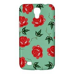 Red Floral Roses Pattern Wallpaper Background Seamless Illustration Samsung Galaxy Mega 6.3  I9200 Hardshell Case