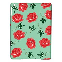 Red Floral Roses Pattern Wallpaper Background Seamless Illustration Ipad Air Hardshell Cases