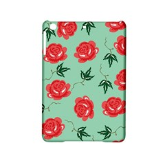 Red Floral Roses Pattern Wallpaper Background Seamless Illustration iPad Mini 2 Hardshell Cases