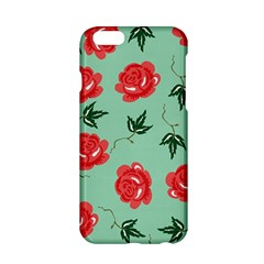 Red Floral Roses Pattern Wallpaper Background Seamless Illustration Apple iPhone 6/6S Hardshell Case