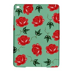 Red Floral Roses Pattern Wallpaper Background Seamless Illustration Ipad Air 2 Hardshell Cases