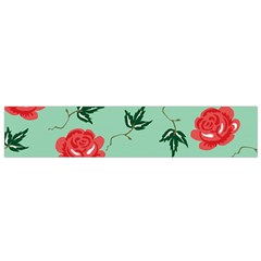 Red Floral Roses Pattern Wallpaper Background Seamless Illustration Flano Scarf (small)