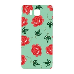 Red Floral Roses Pattern Wallpaper Background Seamless Illustration Samsung Galaxy Alpha Hardshell Back Case