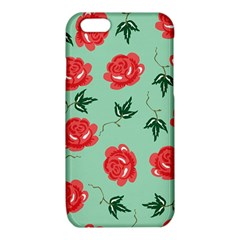 Red Floral Roses Pattern Wallpaper Background Seamless Illustration iPhone 6/6S TPU Case
