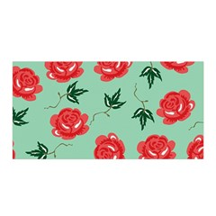 Red Floral Roses Pattern Wallpaper Background Seamless Illustration Satin Wrap
