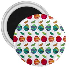 Watercolor Floral Roses Pattern 3  Magnets