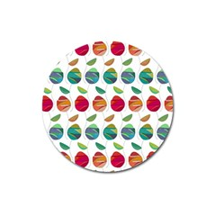 Watercolor Floral Roses Pattern Magnet 3  (Round)