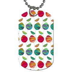 Watercolor Floral Roses Pattern Dog Tag (Two Sides)