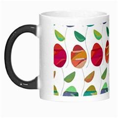 Watercolor Floral Roses Pattern Morph Mugs