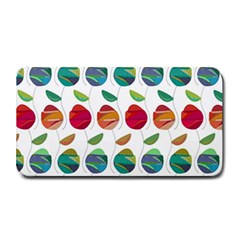 Watercolor Floral Roses Pattern Medium Bar Mats