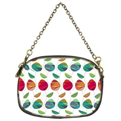 Watercolor Floral Roses Pattern Chain Purses (one Side)